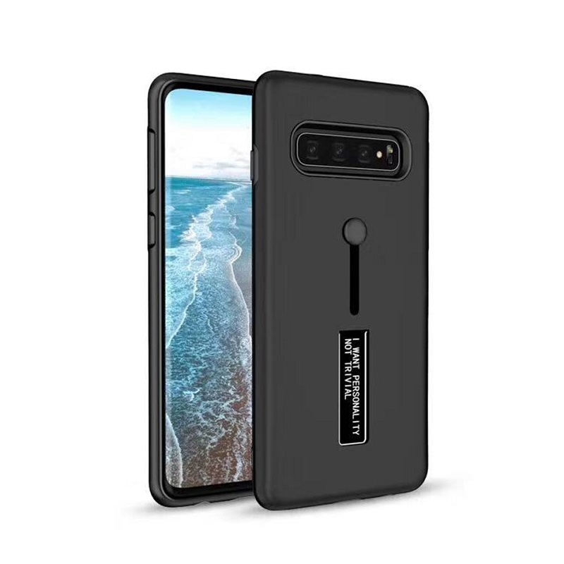 mobiletech-samsung-galaxy-s10-kickstand-shockproof-cover-black