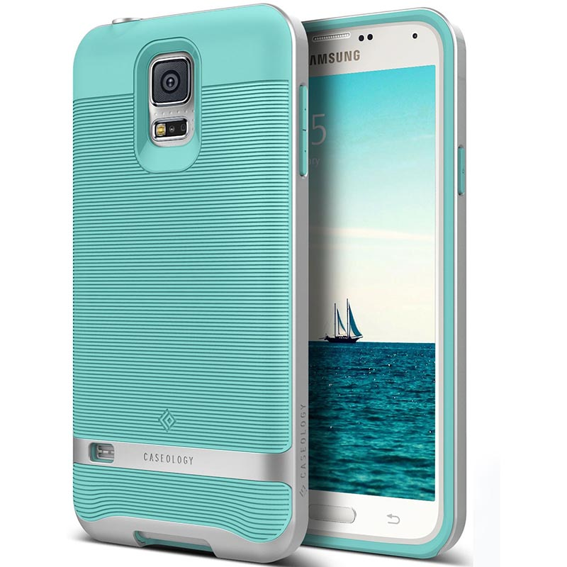 best service 549ad f9b94 Samsung Galaxy S5 Caseology Wavelength Series Case - Turquoise