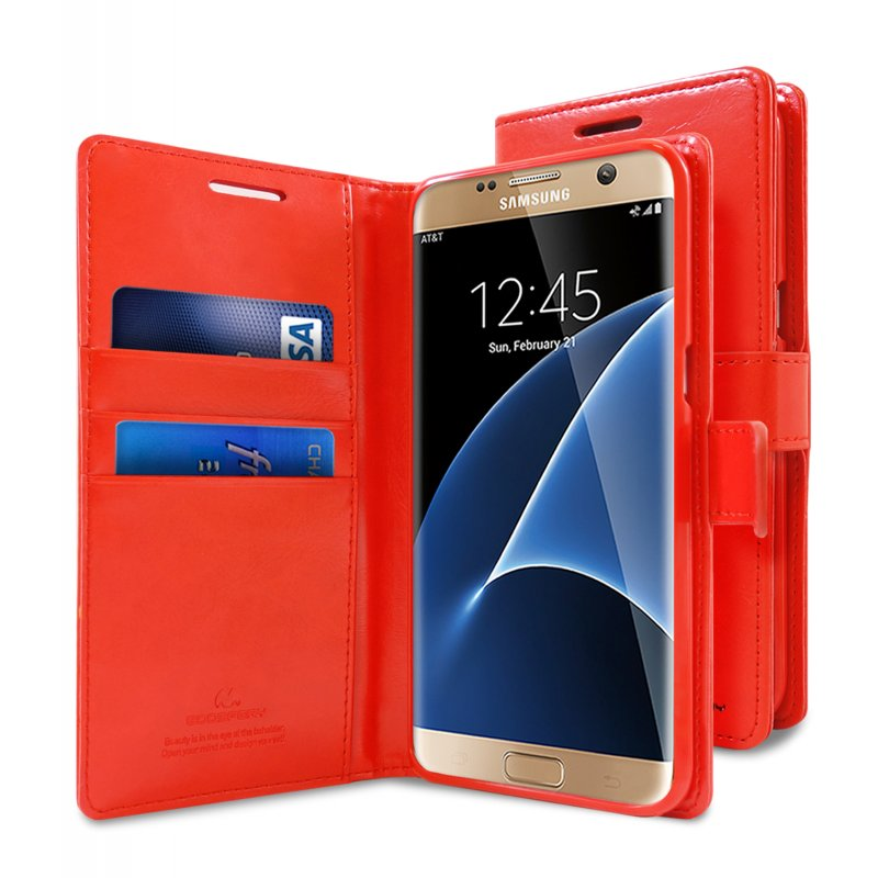 sports shoes d330b ee47d Samsung Galaxy S7 Edge Bluemoon Wallet Case Red