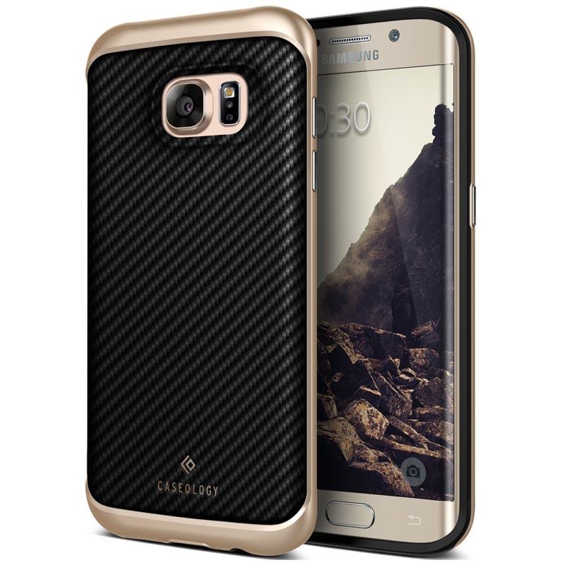 premium selection 7e810 9a946 Samsung Galaxy S7 Edge Caseology Envoy Series Case - Carbon Fiber Black