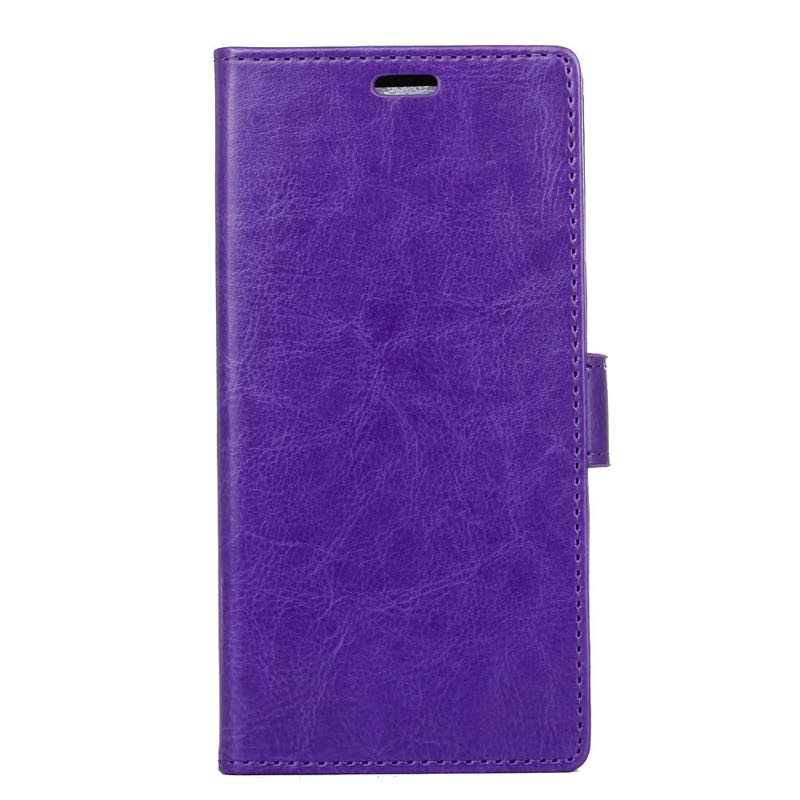 premium selection e6555 0c659 Sony Xperia XZ Premium PU Leather Wallet Case Purple