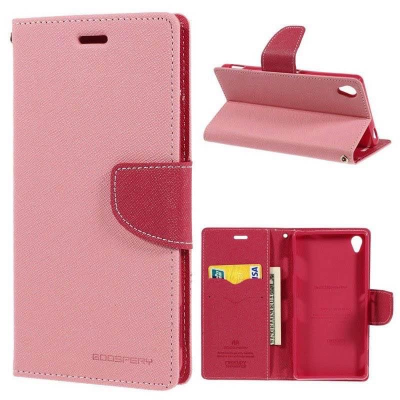 Sony Xperia Z3 Goospery Fancy Diary Case Pink