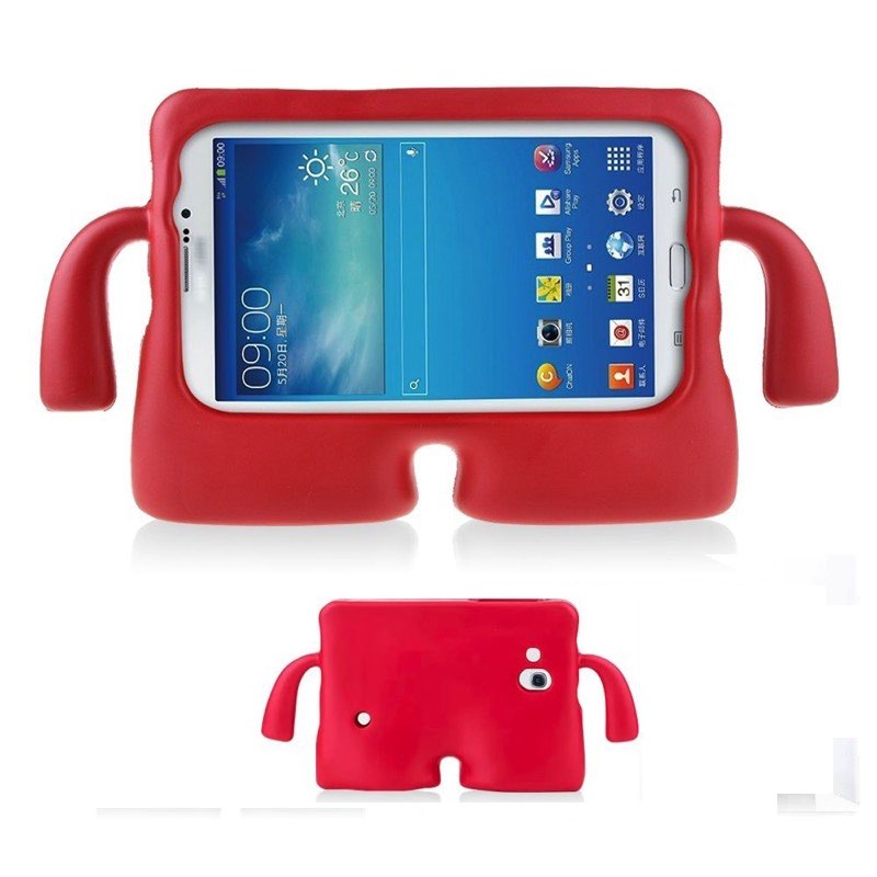 super popular 000f2 7874d Samsung Galaxy Tab A 7'' Case for Kids Rubber Shock Proof Cover with Carry  Handle Red
