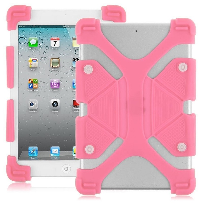Universal-8.9-12-inch-Soft-Silicone-Rubber-Shockproof-Stand-Skin-Case-Pink