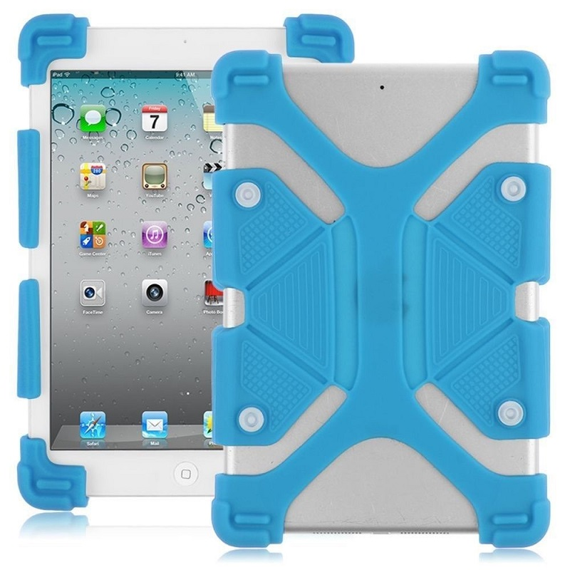 Universal-7-8-inch-Soft-Silicone-Rubber-Shockproof-Stand-Skin-Case-Blue