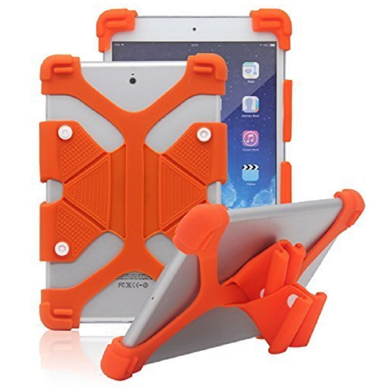 Universal-7-8-inch-Soft-Silicone-Rubber-Shockproof-Stand-Skin-Case-Orange