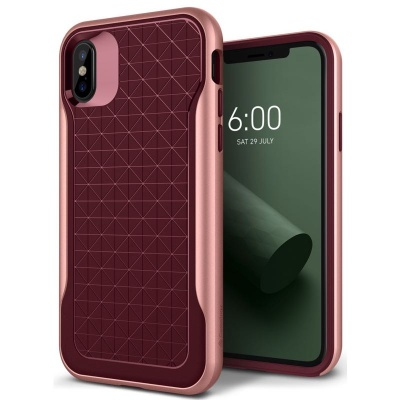 iPhone X Case Caseology Apex Case Burgandy
