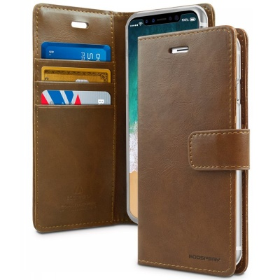 iPhone X Case Goospery Bluemoon Diary Case Brown
