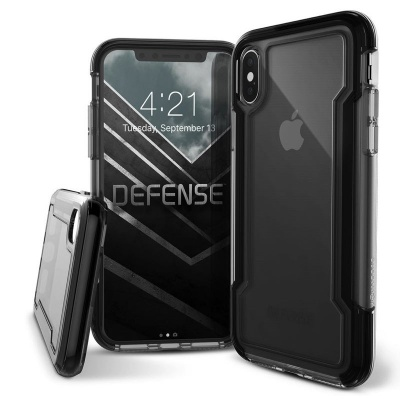 iPhone X  Defense Clear Black