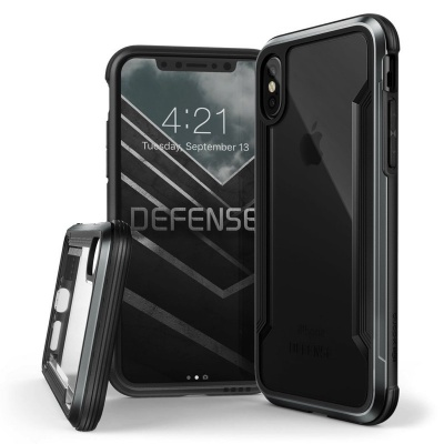 iPhone X  Defense Shield Black