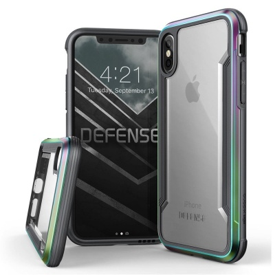 iPhone X Case  Defense Shield Iridescent
