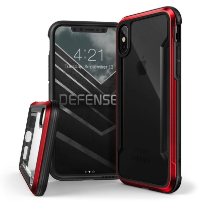 iPhone X Case  Defense Shield Red