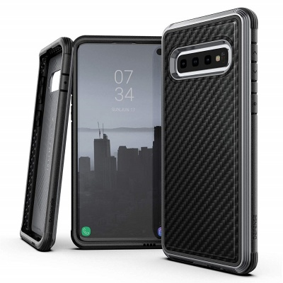 Samsung Galaxy S10 Case Black Carbon Fiber X - Doria Defense LUX Series