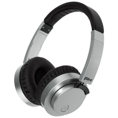 Groov e Fusion Wireless Bluetooth or Wired Stereo Headphones - Silver