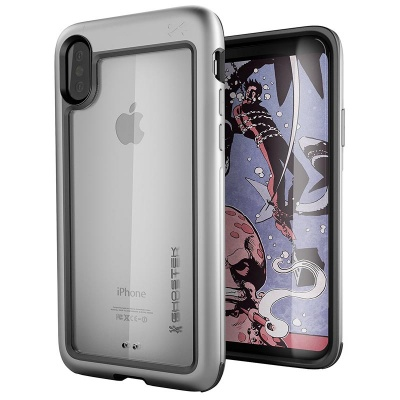 iPhone X Ghostek Atomic Slim  Silver