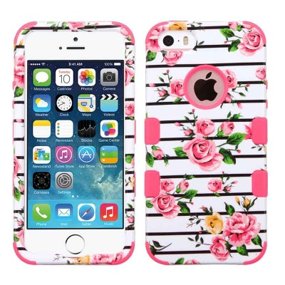 iPhone SE/5S/5 MyBat Pink Fresh Roses/Electric Pink TUFF Hybrid Phone Protector Cover