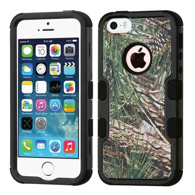 iPhone SE/5S/5 MyBat Pine Tree-Hunting Camouflage Collection/Black TUFF Hybrid Protector Cover