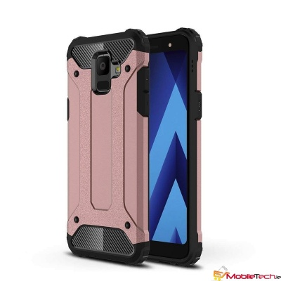 Samsung Galaxy A6(2018) Dual Layer Shock-absorbing Protective Cover RoseGold