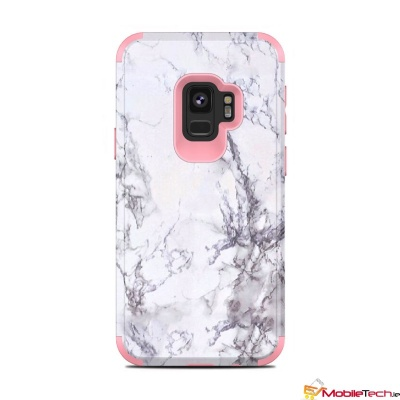 Samsung Galaxy S9 Dual Layer Heavy Duty Shockproof Protective Marble Cover RoseGold