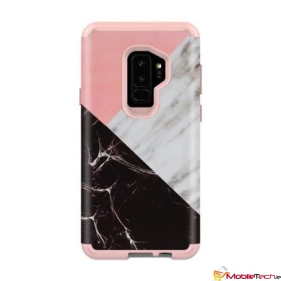 Samsung Galaxy S9 Dual Layer Heavy Duty Shockproof Protective Marble Cover Vintage