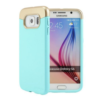 Samsung Galaxy S6 Prodigee Accent Series Cover Aqua/Gold