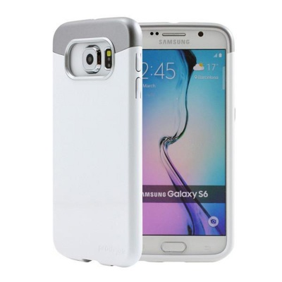 Samsung Galaxy S6 Prodigee Accent Series Cover White/Silver