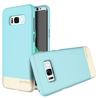 Samsung Galaxy S8  Prodigee Accent Series Aqua/Gold