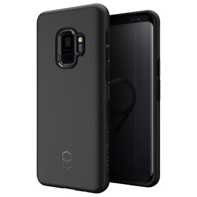 Samsung Galaxy S9 Case Patchwork Level ITG Series Cover Black