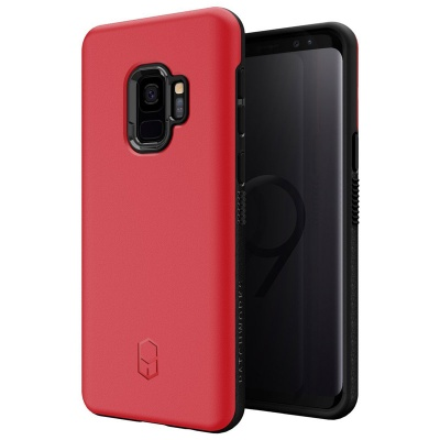 Samsung Galaxy S9 Patchwork Level ITG Series Cover Red