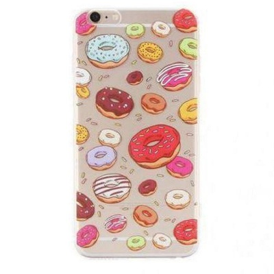 iPhone 7 / iPhone 8 Case Donuts Pattern Soft Silicone Clear