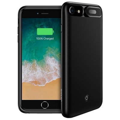 iPhone 7/8 Usams Battery Charger Case  3000 mAh Power Bank Cover Black