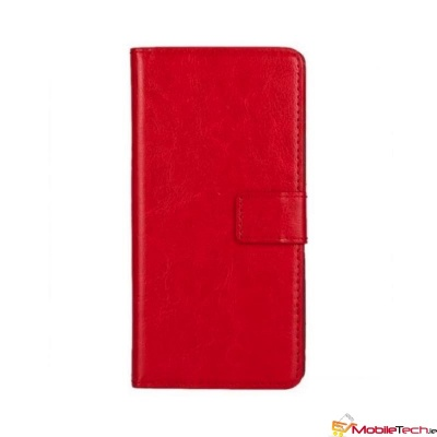 Vodafone Smart X9 PU Leather Wallet Case  Red