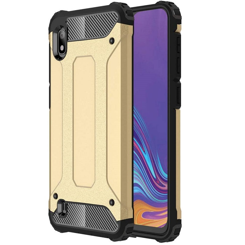 Samsung Galaxy A10 Luxury Armor Cover Gold
