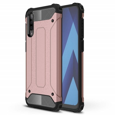 Samsung Galaxy A70 Case - Rosegold Luxury Armor