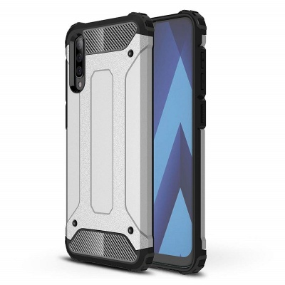 Samsung Galaxy A70 Case - Silver Luxury Armor