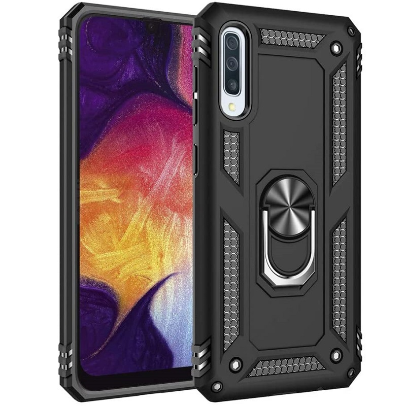 Samsung Galaxy A50 Ring Armor Cover Black
