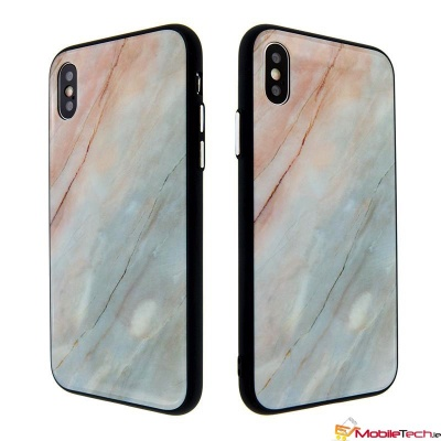 iPhone X Tempered glass Clear Marble Pattern Ultra thin Cover