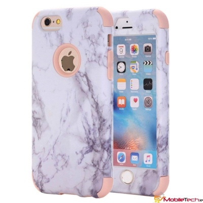 iPhone 6s/6 Dual Layer Heavy Duty Shockproof Protective Marble Cover RoseGold