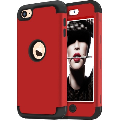 iPod Touch (5th/6th Generation)  Hybrid Protector Cover Red/Black