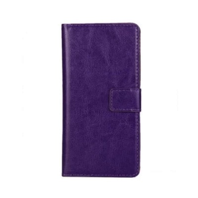 Motorola E3 PU Leather Wallet Case Purple