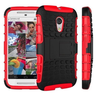 Motorola G2 Tyre Defender Cover Red