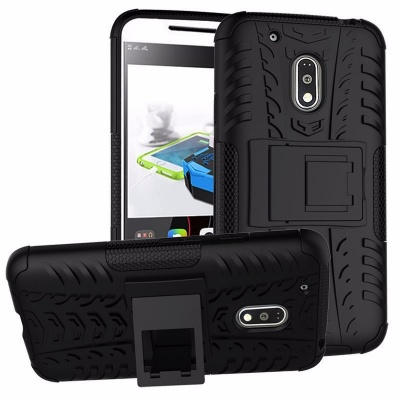 Motorola G4 Plus Tyre Defender Cover Black
