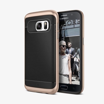 Samsung Galaxy S7 Wavelength Series Case - Black/Gold