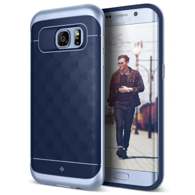 Samsung Galaxy S7 Edge Caseology Parallax Series Case - Navy Blue/ Blue Coral