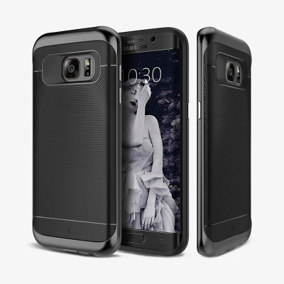 Samsung Galaxy S7 Edge Caseology Wavelength Series Case - Black/Black