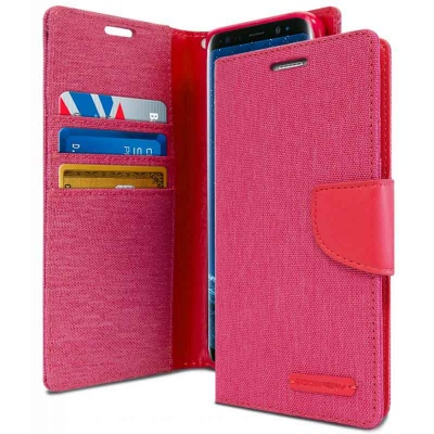 Samsung Galaxy S9 Plus Goospery Canvas Diary Case Pink