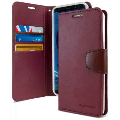 Samsung Galaxy S9 Goospery Sonata Diary Case Wine Red