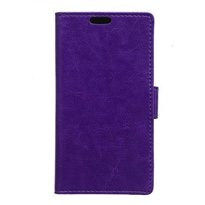HTC One A9 PU Leather Wallet Case Purple