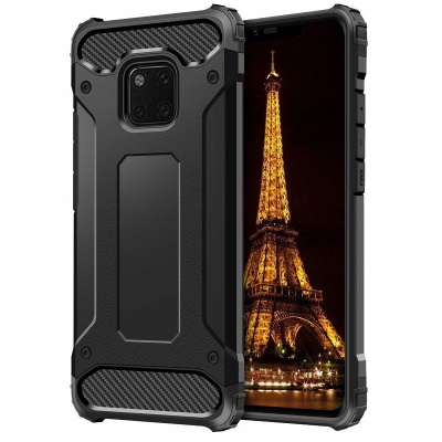 Huawei Mate 20 Pro Dual Layer Hybrid Soft TPU Shock-absorbing Protective Cover Black