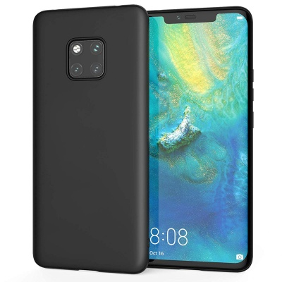 Huawei Mate 20 Pro Silicon Black Cover